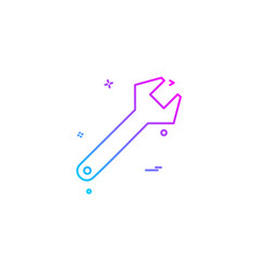 Construction tool work labour wrench icon vector
