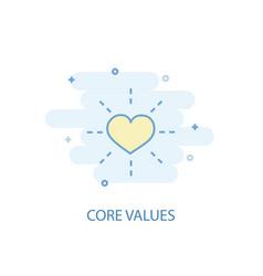 Core values line concept simple line icon vector