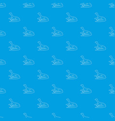 curious lizardpattern seamless blue vector image