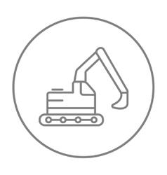 Excavator line icon vector image