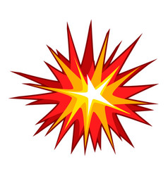 Explode effect icon cartoon style vector