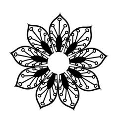 floral mandala bohemian culture meditation vector image