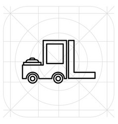 Forklift delivery truck icon vector