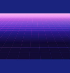 future retro line background 80s vector image