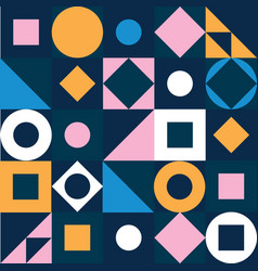 geometric pattern abstract colorful triangle vector image