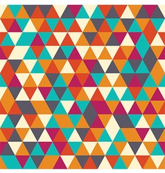 Geometric seamless pattern with colorful triangles vector
