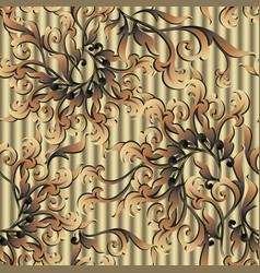gold baroque seamless pattern textured golden 3d vector image