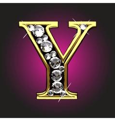 Golden figure with diamonds vector