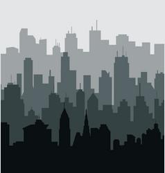 Green City Skyline vector image