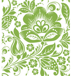 greenery russian seamless pattern background vector image
