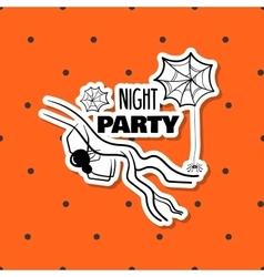 Halloween Sticker Spiders vector image
