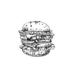 hamburger logo design template fast food vector image