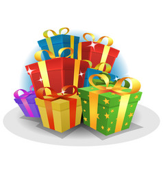 Happy birthday gifts pack vector