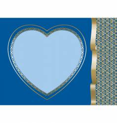 heart on dark blue background vector image