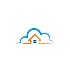 house cloud logo vector image