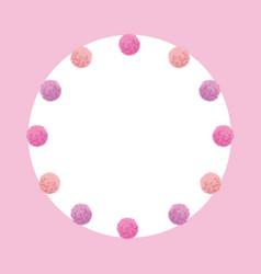 Light pink bagirl birthday party pom vector