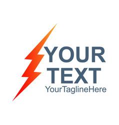 lightning bolt icon flash icon bolt of vector image
