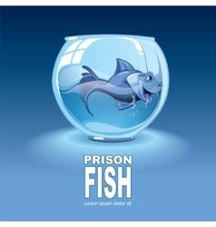 little blue fish vector image