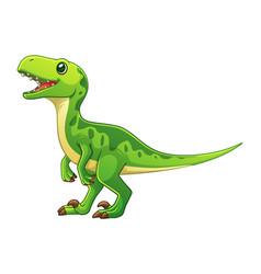 little velociraptor cartoon vector image