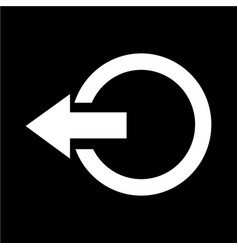 logout sign icon vector image