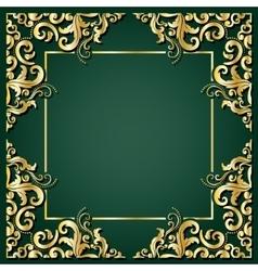 Luxury golden square frame vector