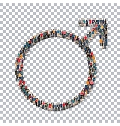 Male sign isometric people 3d vector