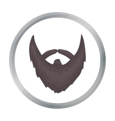 Man s beard icon in cartoon style isolated on vector