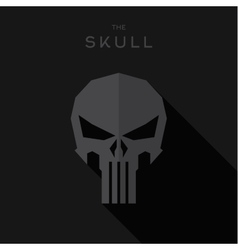 Mask villain Hero superhero skull flat style icon vector