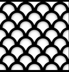 minimal circle pattern - overlapping circles vector image