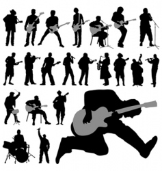 musician set vector image
