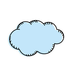 Natural cloud and cloudy weather vector