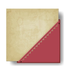Old paper background with red corner vector