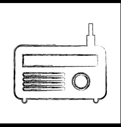 Old radio isolated icon vector