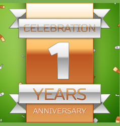 One years anniversary celebration design vector