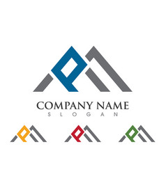 P letter property logo template vector