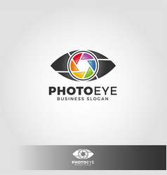 Photo eye - camera studio logo vector