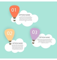 Retro Infographic with Air Balloons vector image