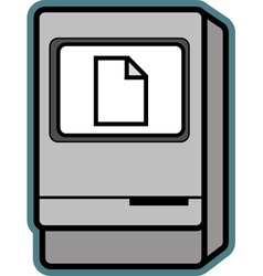 Retro Mac vector image