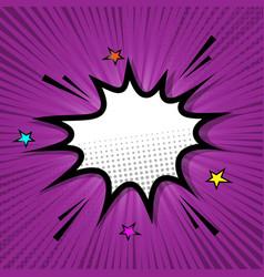 Retro speech bubble on purple background vector