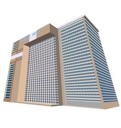 Sample hotel plaza building vector