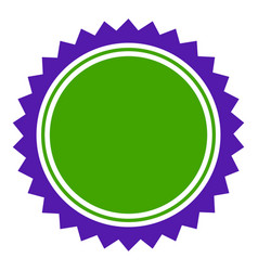 Seal stamp template flat icon vector