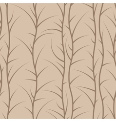 Seamless floral pattern of spiny branches vector