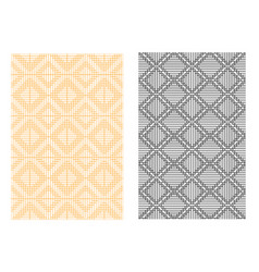 seamless grid line pattern in korean style vector image