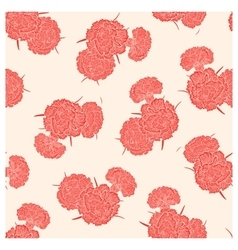 Seamless pattern of pink carnations vector image