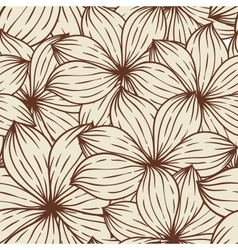 Seamless texture abstract flowers vector