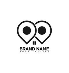 Search home logo design template vector