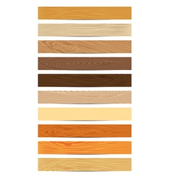 Set of wood textures vector