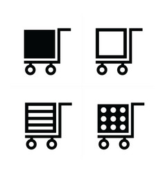 Shopping cart icons cube style vector