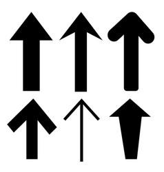 sign black arrow icon vector image