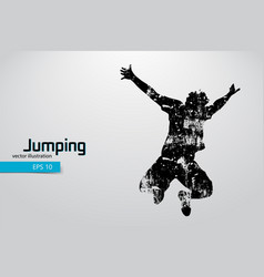 Silhouette a jumping man vector